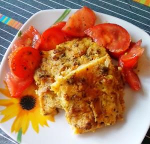 farinata e pomodori
