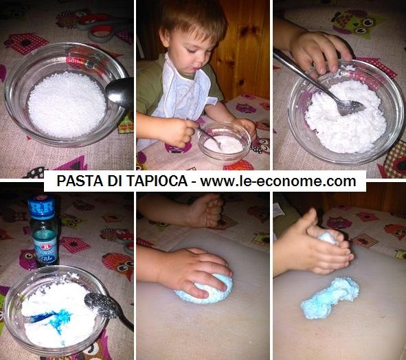 pasta di tapioca - attività sensoriali per bambini
